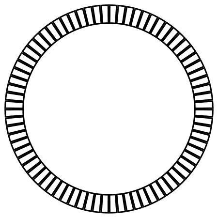 elemento cerchio geometrica fatta di rettangoli radianti. Forma astratta cerchio. Vettoriali