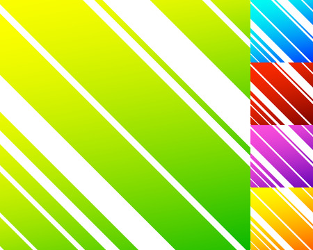 Vivid colorful pattern in 5 color with slanting dynamic lines, stripes. Random lines pattern Illustration