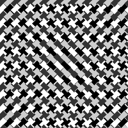 crisscross: Edgy seamlessly repeatable zig-zag pattern. Abstract monochrome background
