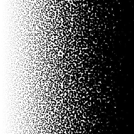 Random circles pattern. Halftone pattern, halftone gradient with random dots. Abstract monochrome pointillist, speckled background