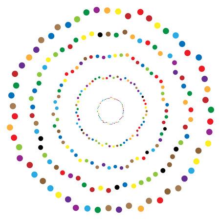 Random circles, dots abstract element, circular shape