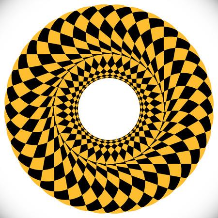 distortion: Geometric circle element(s). Abstract circular shape Illustration