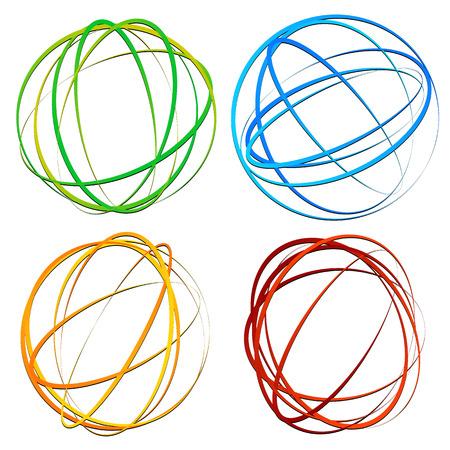 Cercle élément de design avec ovale aléatoire, formes d'ellipse