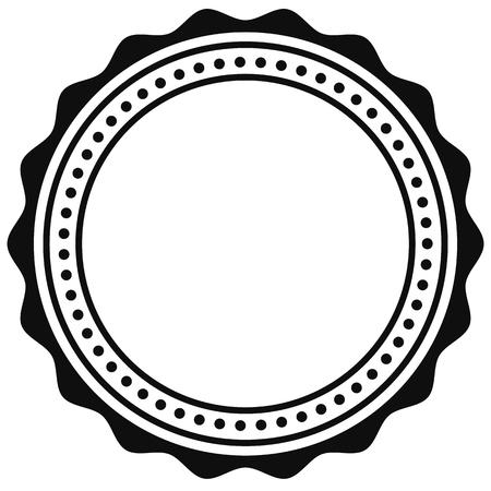 Badge, seal element. Contour of circular certificate, medal