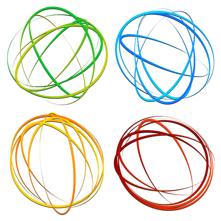 Cercle élément de design avec ovale aléatoire, formes d'ellipse Vecteurs