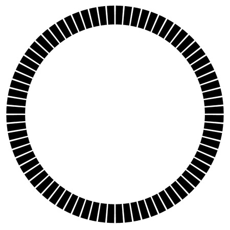 radiating: Geometric circle element made of radiating rectangles. Abstract circle shape. Illustration