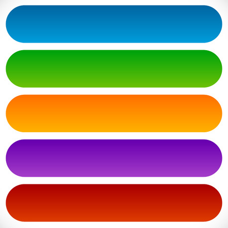 Simple, flat rectangular shaped button, banner background with colorful gradients