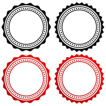 Insignia, el elemento de junta. Contorno del certificado circular, medalla