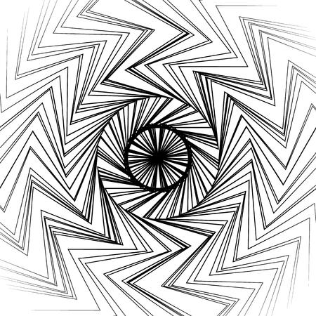 converging: Radial lines circular pattern. Abstract irregular radiating lines