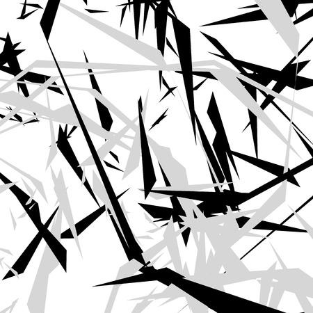 Géométrique motif rugueux edgy. Résumé noir et blanc art. Vecteurs
