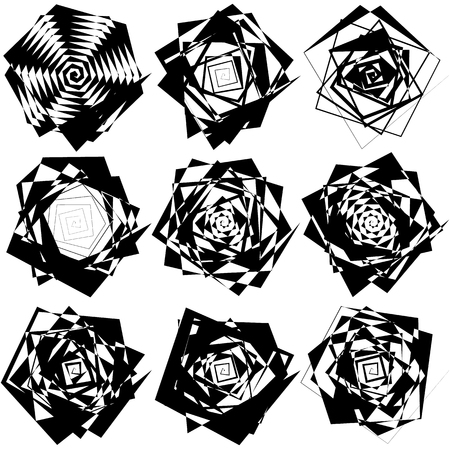 rupture: Geometric edgy rough pattern. Abstract black and white art. Illustration