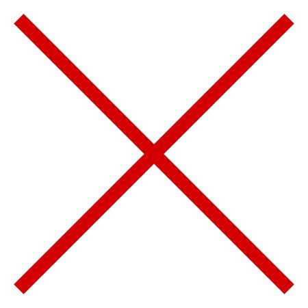 ベクトル記号アイコンのクロス レッド ×のイラスト素材・ベクタ ...