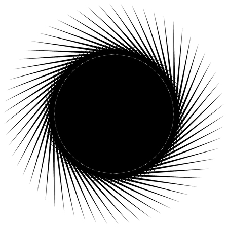 Abstract element. Geometric illustration. Graphics with generated element(s) Illustration