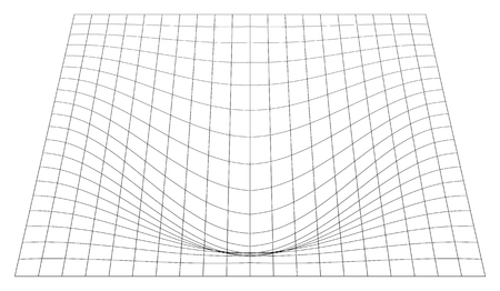 perspective grid: Bent grid in perspective. 3d mesh with convex distortion Illustration