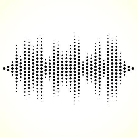 equaliser: Dotted equaliser (equalizer, EQ) lines. Vertical dots.
