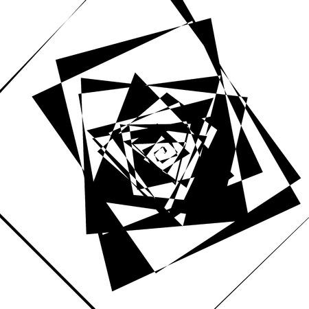Geometric spiral pattern. Abstract monochrome texture. Vortex, swirl pattern