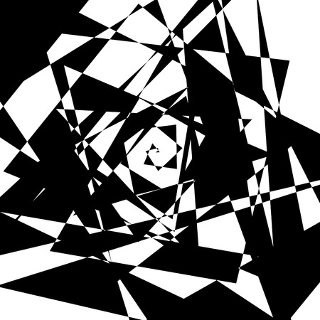 rough: Geometric edgy rough pattern. Abstract black and white art. Illustration