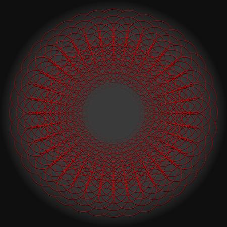 Abstract circular geometric mandala Illustration