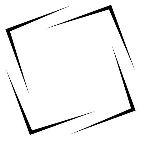 encircle: Square photo, picture frame, picture border. Conceptual crosshair, viewfinder square Illustration