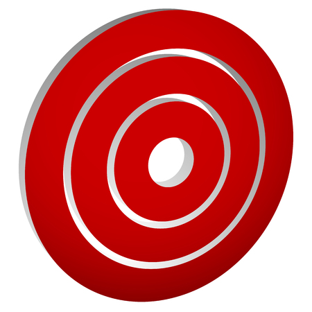 epicentre: Target mark (bullseye)  Concentric circles, rings icon Illustration
