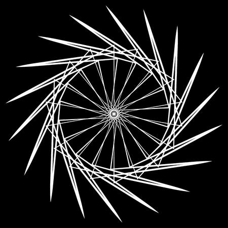 Geometric spiral. Abstract circular mandala. Esoteric motif. Illustration