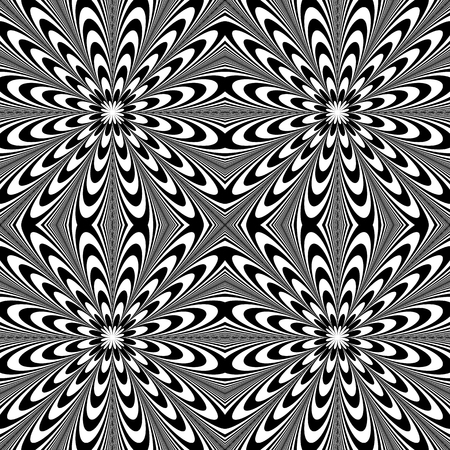 Distorted seamless pattern. Repeatable abstract monochrome background