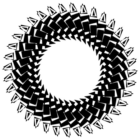 Abstract circular element, circle mandala Illustration