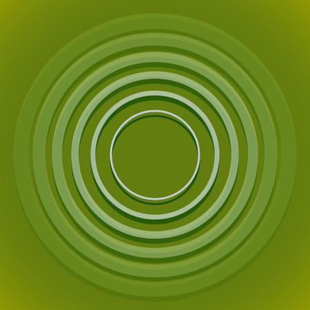 Radial, radiating circle element Illustration