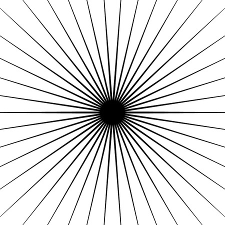 spokes: Radial lines element. Geometric background, pattern with circular converging lines.