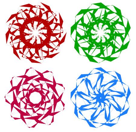 Set of circular geometric elements  minimal mandalas
