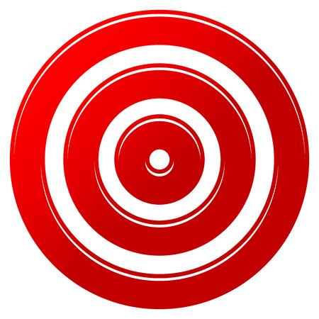 Red target mark - target icon