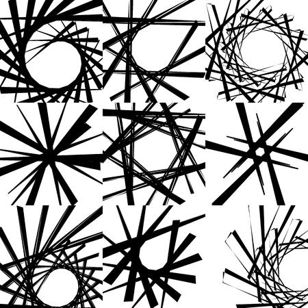 Motif rugueux géométrique edgy. Art noir et blanc abstrait.