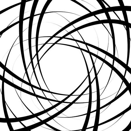 Tangled random curvy lines pattern, geometric element Vector Illustration