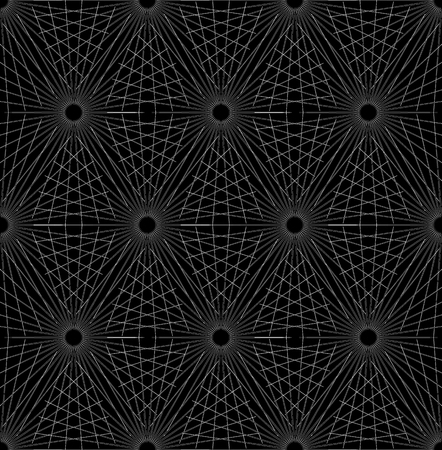 Grid, mesh with intersecting radial shapes – Abstract geometric pattern, background – Seamlessly repeatable