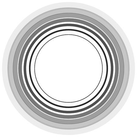 sonar: Circle pattern. Radial lines. Abstract minimalist sonar, aura element. Vettoriali