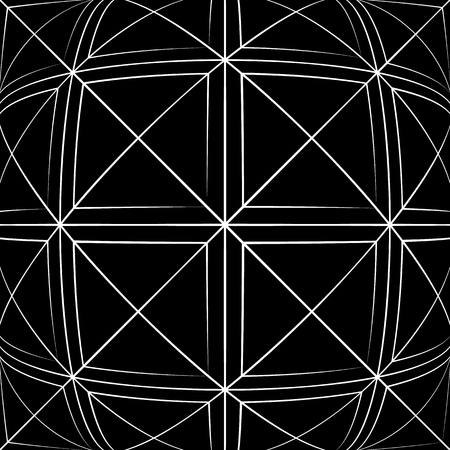 anomalous: Grid pattern with deformation effect. Abstract monochrome background.