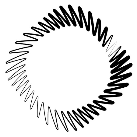 volute: Element(s) with rotating distortion, spiral effect. Abstract geometric elements. Illustration