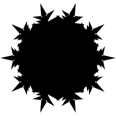 inverse: Silhouette of random edgy geometric shape on white Illustration