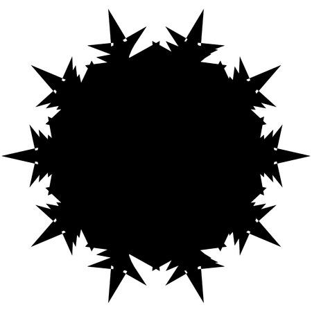 Silhouette of random edgy geometric shape on white Illustration