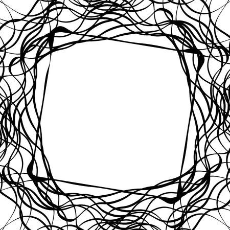 anomalous: Tangled random curvy lines pattern, geometric element
