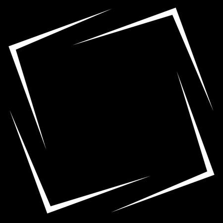 Square photo, picture frame, picture border. Conceptual crosshair, viewfinder square Illustration