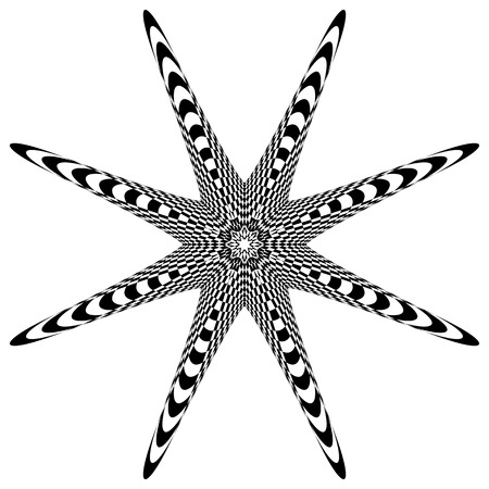 anomalous: Radial element(s) with distortion, deformation effect. Abstract geometric form(s)