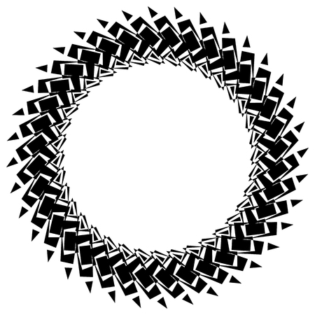 Abstract circular element, circle mandala Illustration