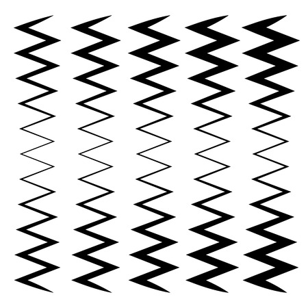 equaliser: Wavy, zig-zag lines - Thinner and thicker versions. Irregular lines, stripes.