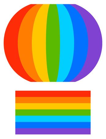 Rainbow shape with tweaked and regular version (Regular is repeatable)