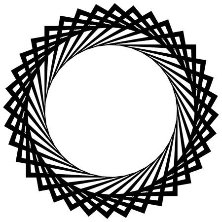 Circular spiral, geometric circle element isolated on white Illustration