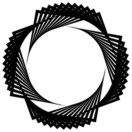 helicoid: Circular spiral, geometric circle element isolated on white Illustration