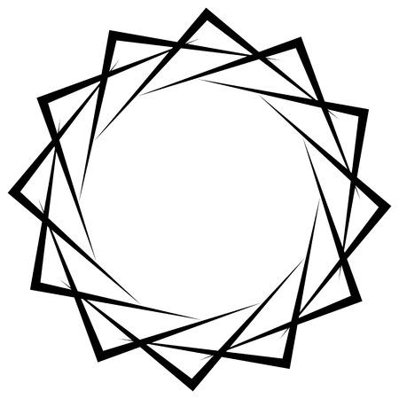 espiral circular, elemento círculo geométrico aislado en blanco Vectores