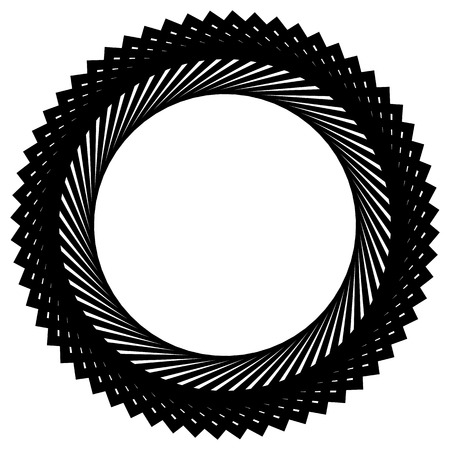 spire: Circular spiral, geometric circle element isolated on white Illustration