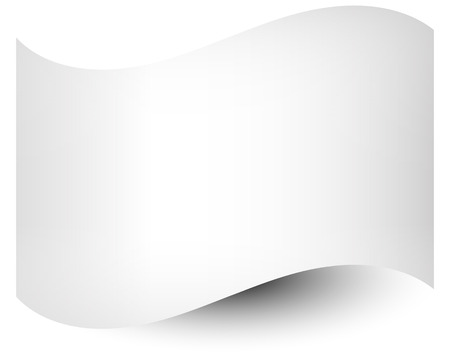distort: White shaded flag template on white. Waving empty rectangle, flag shape (Use it to distort your own flag)
